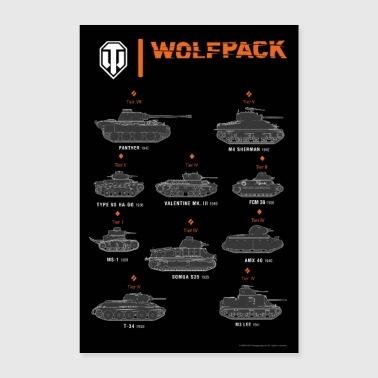 World of Tanks WoT - Heavy Wolfpack - Poster 24 x 35 (60x90 cm)