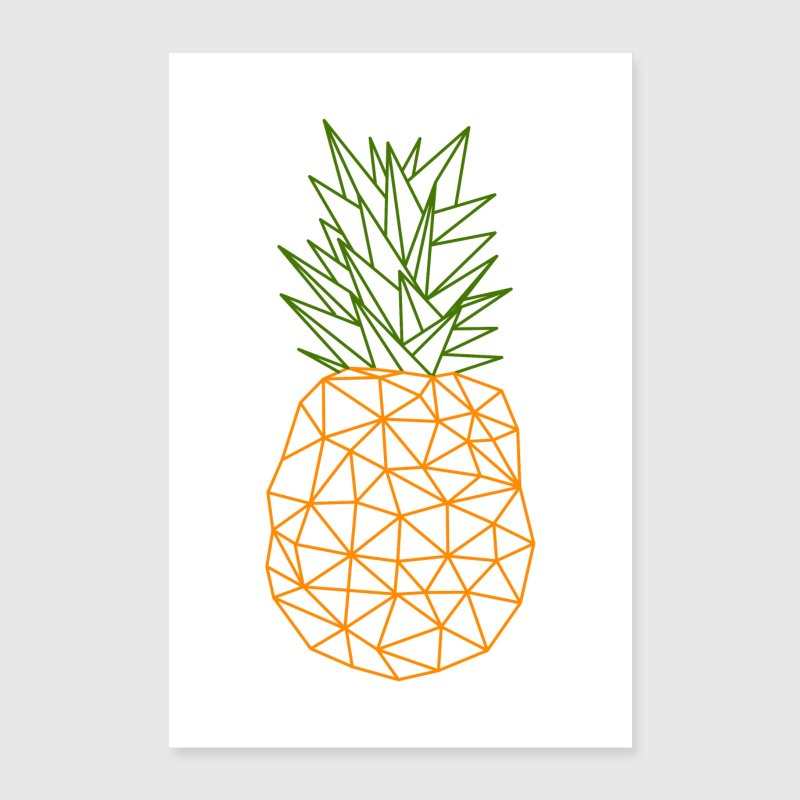 pineapple vector polygon design by yakoazon poster spreadshirt