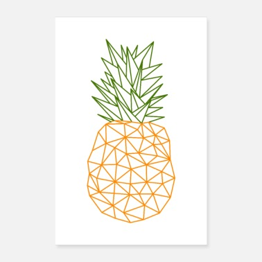 Vector Pineapple vector polygon design - Poster