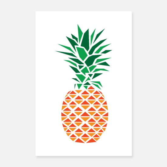 Graphique Posters - Polygone d'ananas - Posters blanc