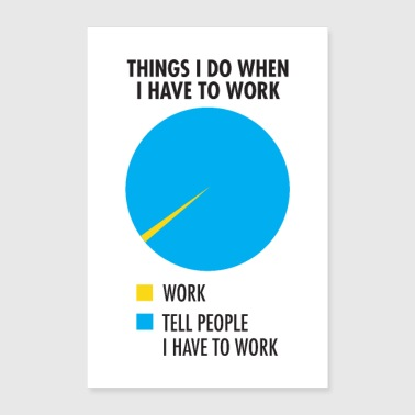 Things I Do When I Have To Work - Poster 60x90 cm