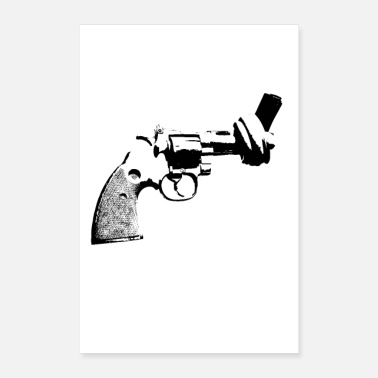 Revolver pistol knot peace poster Poster Revolver anti - Poster
