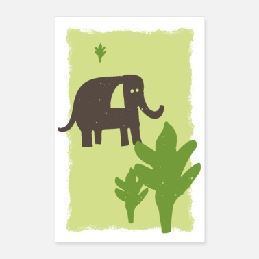 Draw Elephant drawing - Poster