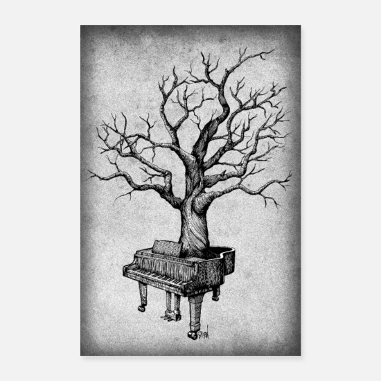 Instrument Posters - piano - Posters blanc