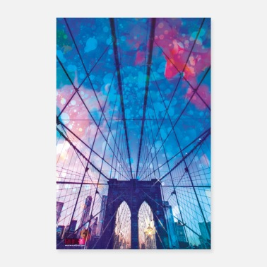 01 Brooklyn Bridge Poster Margarita Art - Poster 60x90 cm