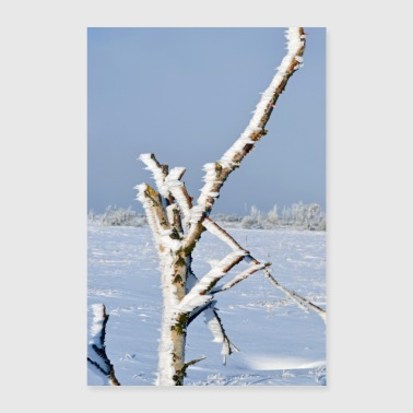 Lonely tree in the frost Poster - Poster 60x90 cm