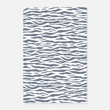 Strip Zebra Stripe Pattern - Poster