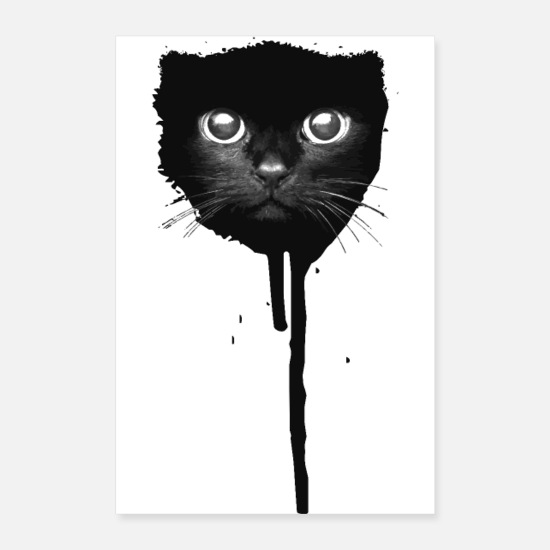 Cat Posters - Spray paint cat - Posters hvid