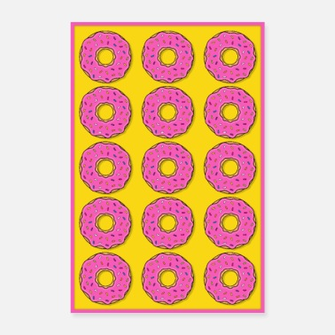 Baker Poster donut donuts pink cookies candy food - Poster 24 x 35 (60x90 cm)