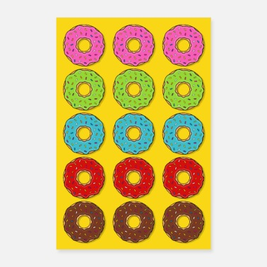 Baker Poster donut donuts colorful cake candy food - Poster