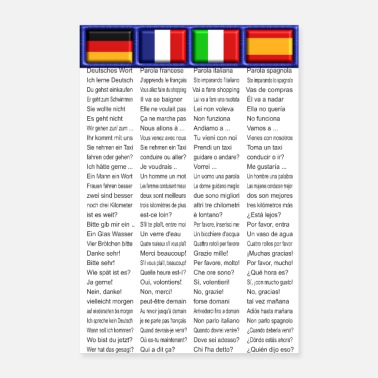 Sprache Poster Sprachen Edition1 - De | Fr | It | Sp - Poster 60x90 cm