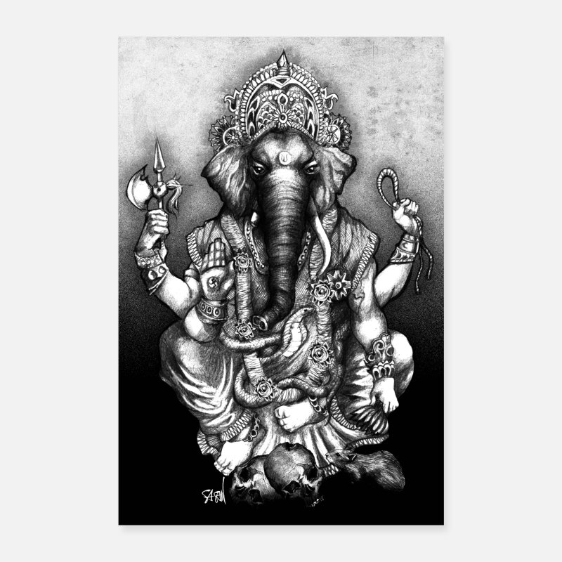 Yoga Posters - Ganesha - Posters wit