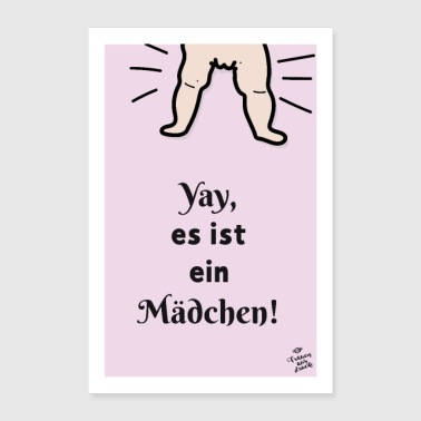 Yay, it's a GIRL! - Poster 24 x 35 (60x90 cm)