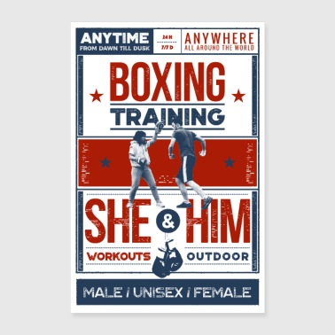 Boxing training - Poster - Poster 24 x 35 (60x90 cm)