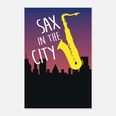 Concert SAX in the City - saxofoon en jazz in de stad - Poster 60x90 cm