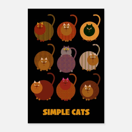 Chaton Posters - Des chats simples - Posters blanc