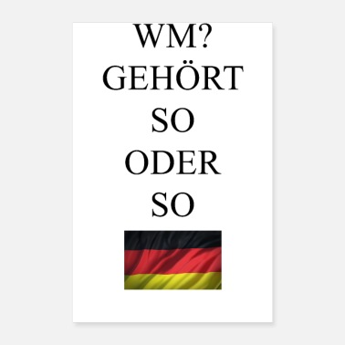 World Championship Germany World Cup Soccer World Champion - Poster