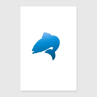 Simple styling fish design! - Poster 24 x 35 (60x90 cm)