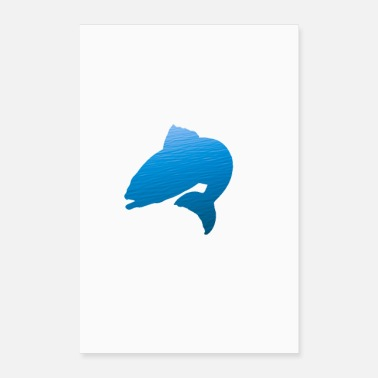 Fish Simple styling fish design! - Poster 24 x 35 (60x90 cm)