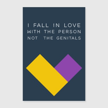fall in love with the person - Poster 24 x 35 (60x90 cm)