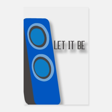 Writing let it be - Poster 60x90 cm