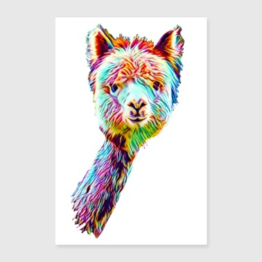 Psychedelic Lama Poster - Poster 60x90 cm