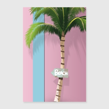 Beach, this way! - Poster 24 x 35 (60x90 cm)