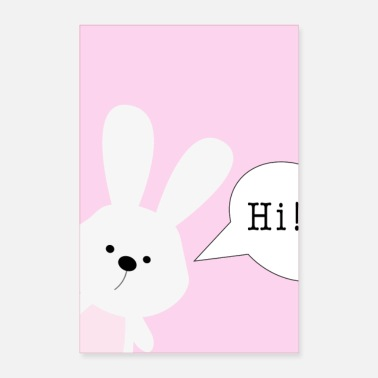 Hase Hase, Hi! - Poster 60x90 cm