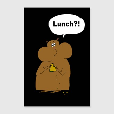 Poster Hamster - Lunch ?! - Poster 24 x 35 (60x90 cm)