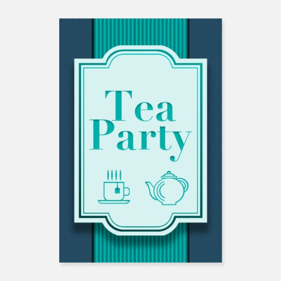 Modern Posters - Tea Party - Posters white