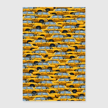 NYC embouteillage taxi new york cabine jaune grosse pomme - Poster 60 x 90 cm