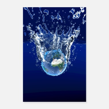 Global Global Warming Blue Edition - Poster 60 x 90 cm
