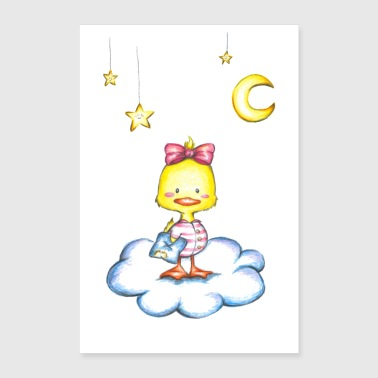 Duckling Sweet Dreams - Poster 60x90 cm