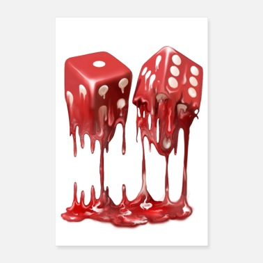 Dice Red Dice - Poster 24 x 35 (60x90 cm)