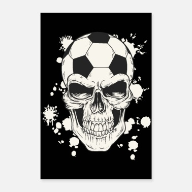 Gardien De But Crâne de football - Poster 60 x 90 cm