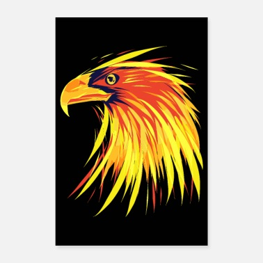 Dominant Eagle Of Fire - Burning Eagle - Poster 24 x 35 (60x90 cm)