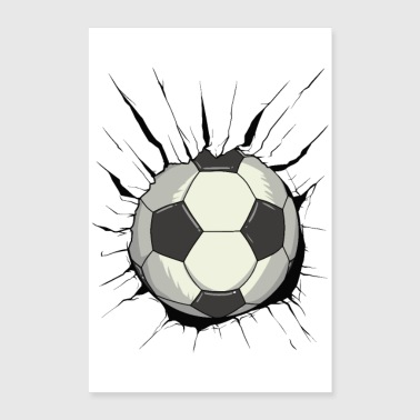 Football révolutionnaire - destruction de la paroi de la balle - Poster 60 x 90 cm