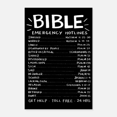 Scripture Bible Emergency Hotlines - Poster