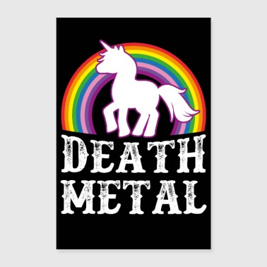 Death Metal Unicorn - Poster 60x90 cm