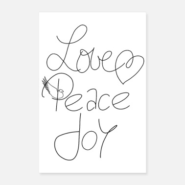 Peace Love Peace Joy - love peace joy - Poster