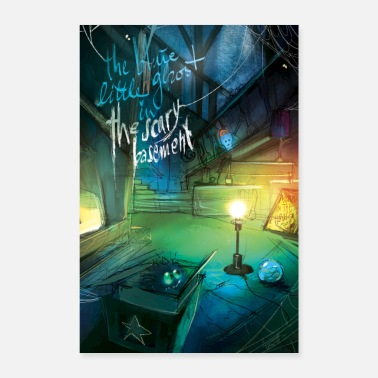 Large The little blue spirit - Poster 24 x 35 (60x90 cm)