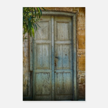 Fashion Old-fashioned door - Poster 24 x 35 (60x90 cm)