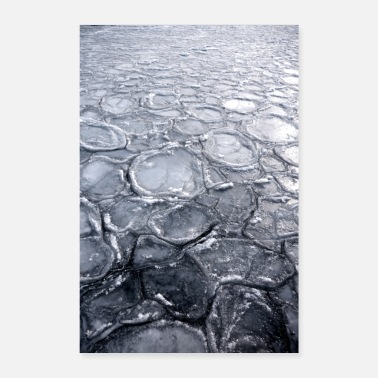 Ice Floe Abstract ice floes - Poster