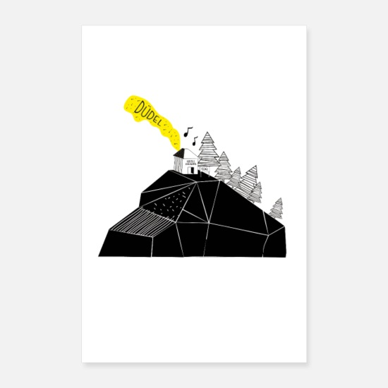 Mulled Wine Posters - Ischgl ski lodge. Music. Mountains. - Posters white