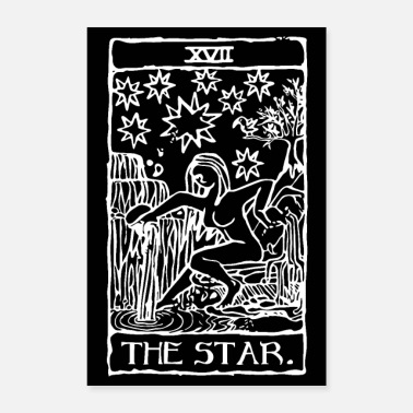 Magia The Star Tarot Cards Poster Black - Poster 60x90 cm