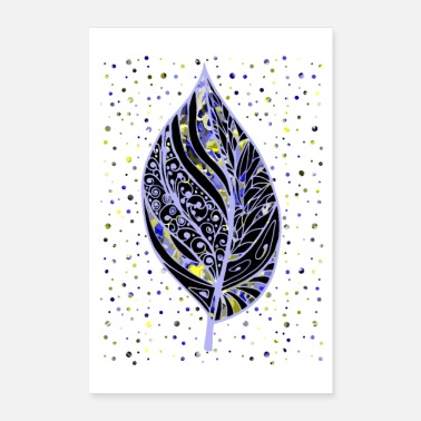 Decoration Decorative leaf - Poster