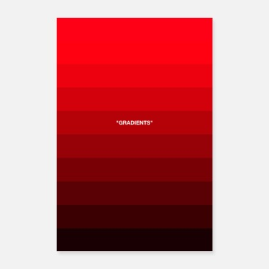 Dégradé De Couleurs GRADIENTS GRAPHIC Design Print Red - Poster
