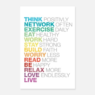 Exercise think network exercise. gift - Poster