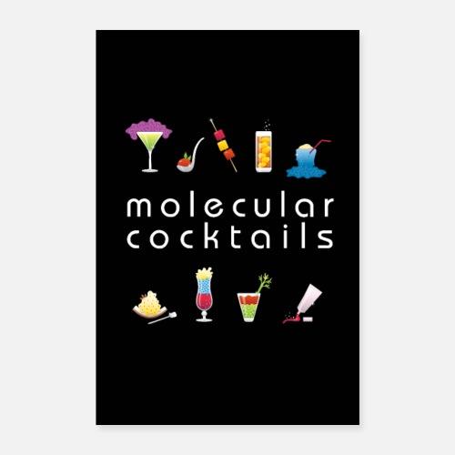 Koktajle Molekularne Kuchnia Molekularna Alkohol Plakat O
