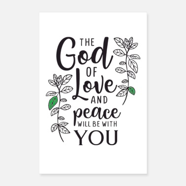 Christian Christian Bible verses sayings as a gift church - Poster